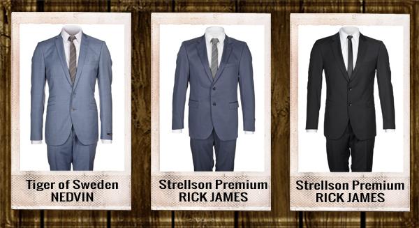 blauw heren kostuum