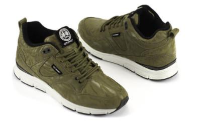 Gourmet Footwear Groen wit tijger print $110