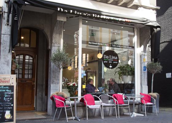 Italiaanse lunchroom Da Lina Den Haag | indepaskamer | Haagse Shoppingroute voor mannen