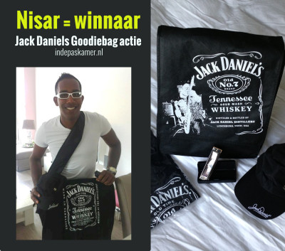 Nisar Winnaar Jack Daniel's Collectors Item Goodiebag