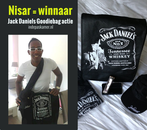 Nisar Winnaar Jack Daniel's Collectors Item Goodiebag