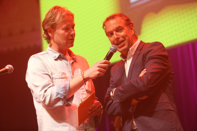 Q-Music Host Gijs Stijverman en Richard Kemper (van Veldhuis en Kemper)