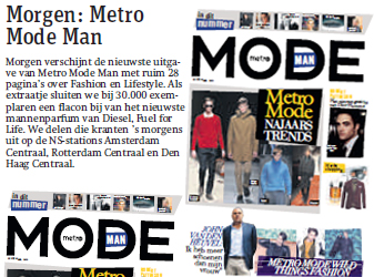 interview Metro Mode Man indepaskamer